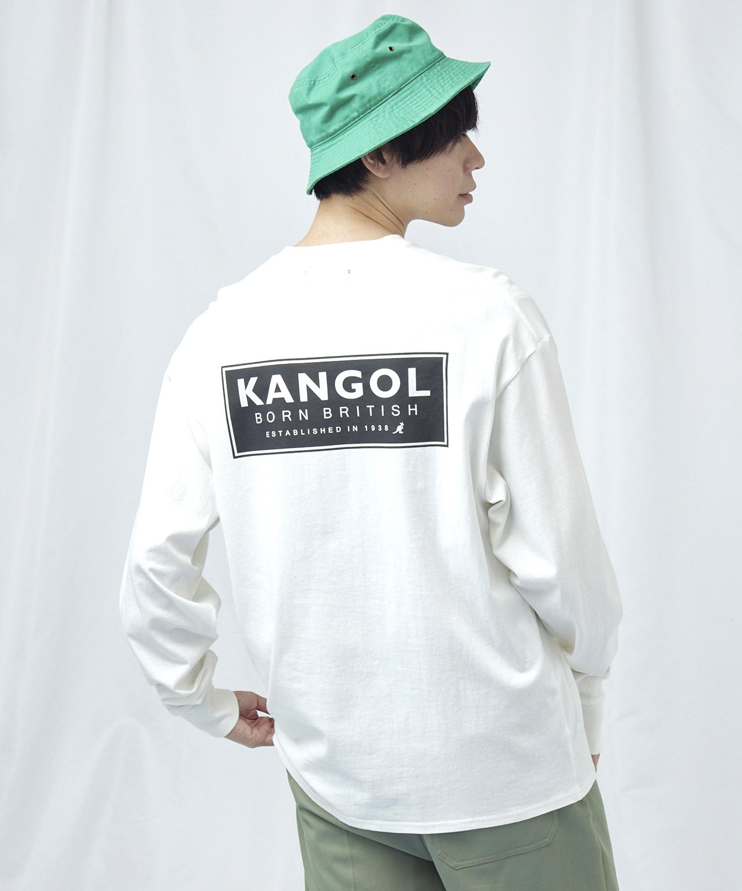 KANGOL/カンゴール コラボ 別注ロゴ刺繍 L/S オーバーサイズカットソー -2021SPRING STYLE-