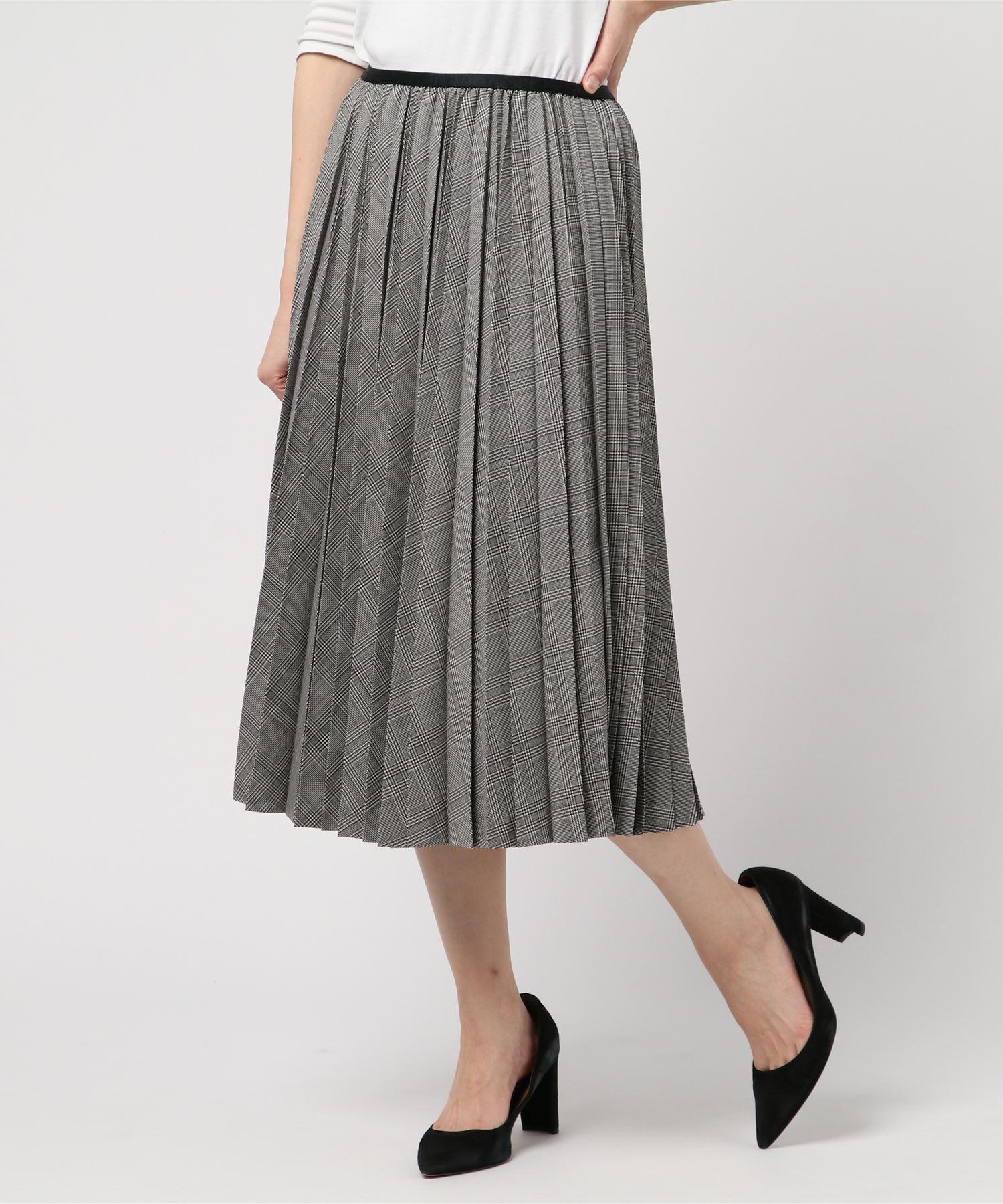 ESTNATION チェックプリーツスカート