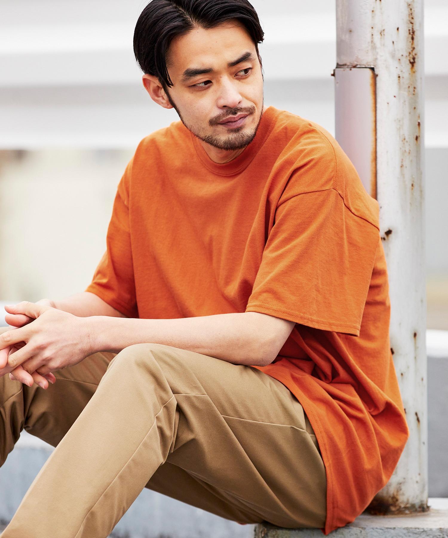 ギルダン ビッグシルエット USAオーバーサイズ 1/2スリーブTシャツ 無地T トップス Tシャツ