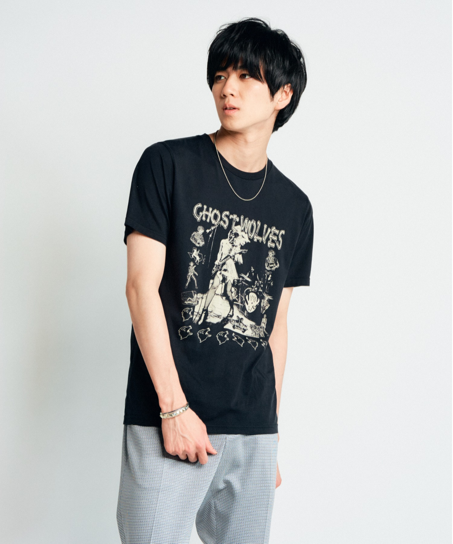 THE GHOST WOLVES/CROOKED COP Tシャツ