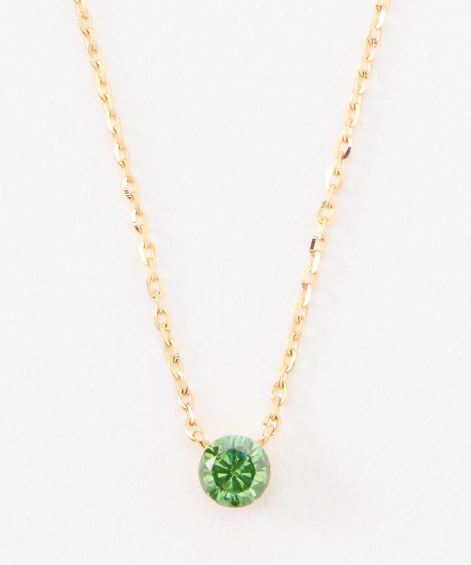 K18カラーダイヤモンドネックレス