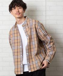 チェックスナップボタンシャツジャケット#