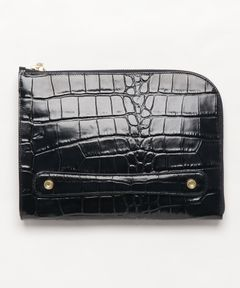 """TOFF&LOADSTONE / """"LUX CROCO CLUTCH"""" クラッチバッグ"""