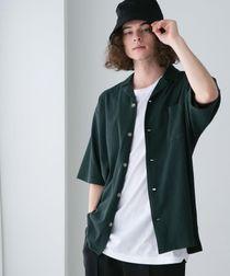 【WEB限定】FEELING MADE ストレッチ シアサッカーオープンカラーシャツ