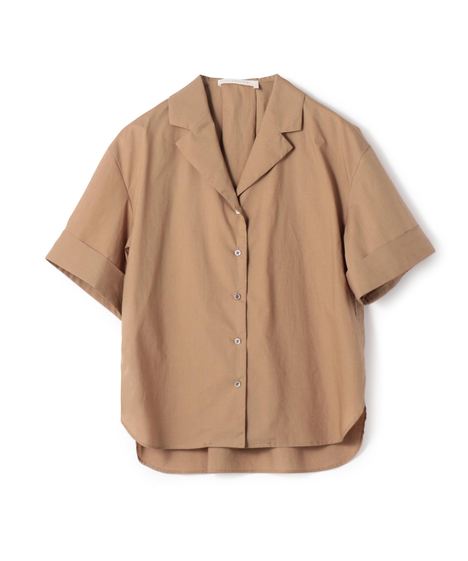 ESTNATION / エアリーコットンオープンカラーシャツ