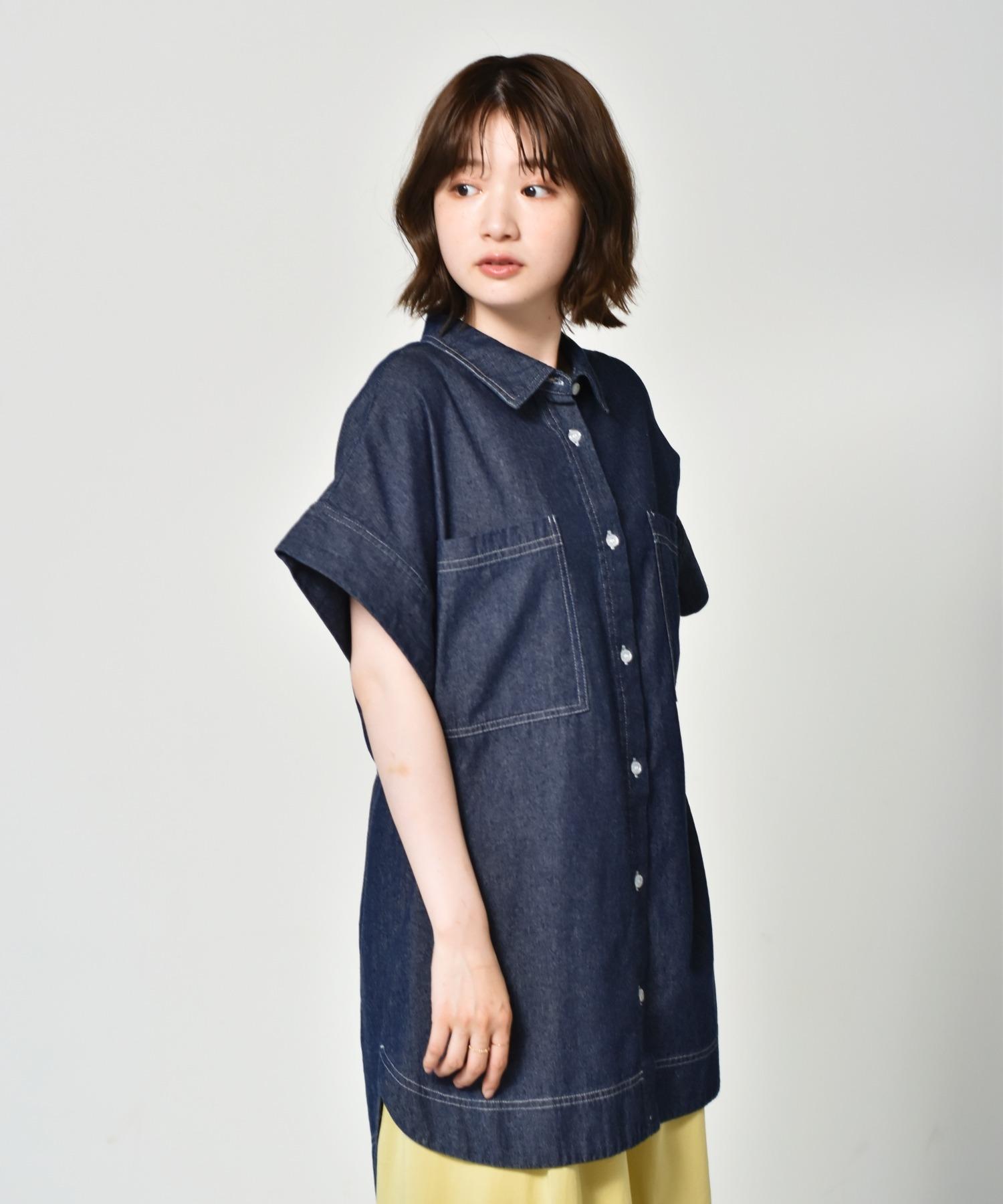 半袖デニムBIGシャツ