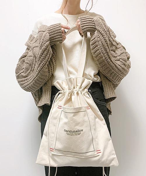 【インフルエンサー aiko×DEVICE コラボ】Rename 帆布 巾着トートバッグ /ハンドバッグ (ユニセックス) 《ZOZO限定》