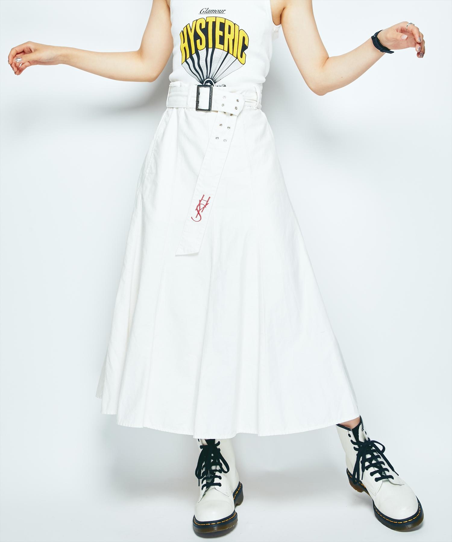 HYS LOGO刺繍 マーメイドスカート