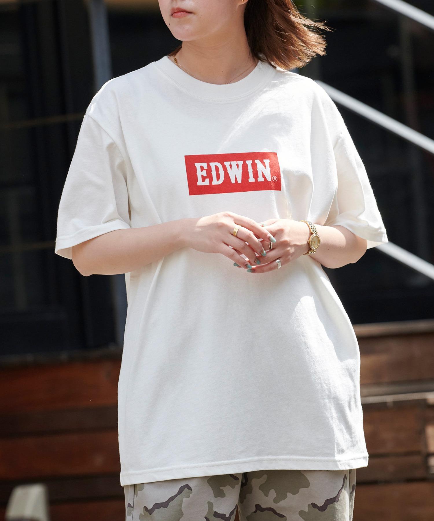 EDWIN/エドウィン BASIC PRINT H/S TEE BOXロゴプリント半袖Tシャツ