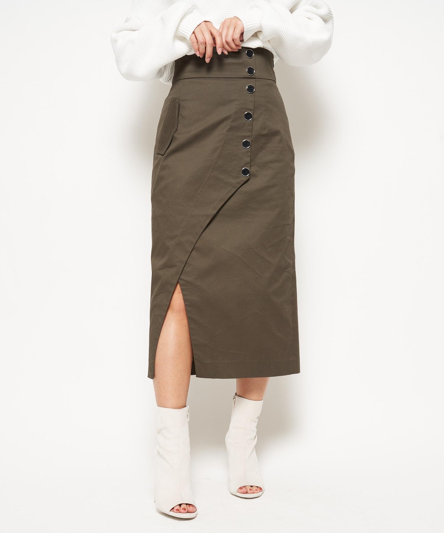 デザインスリットナロースカート