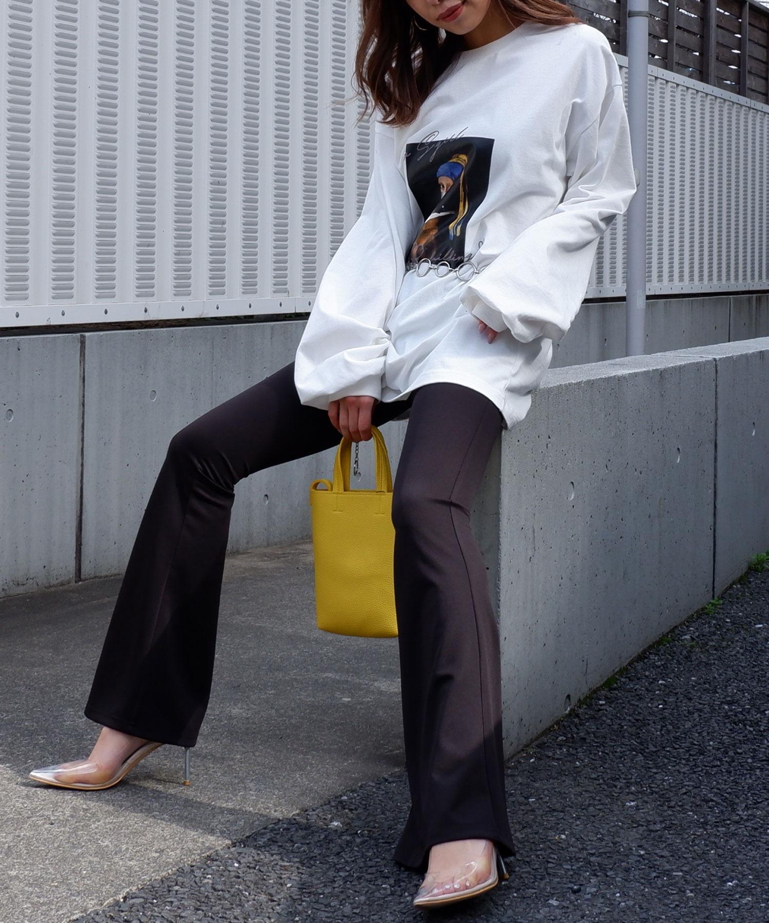 オーバーサイズphotoロングTシャツ