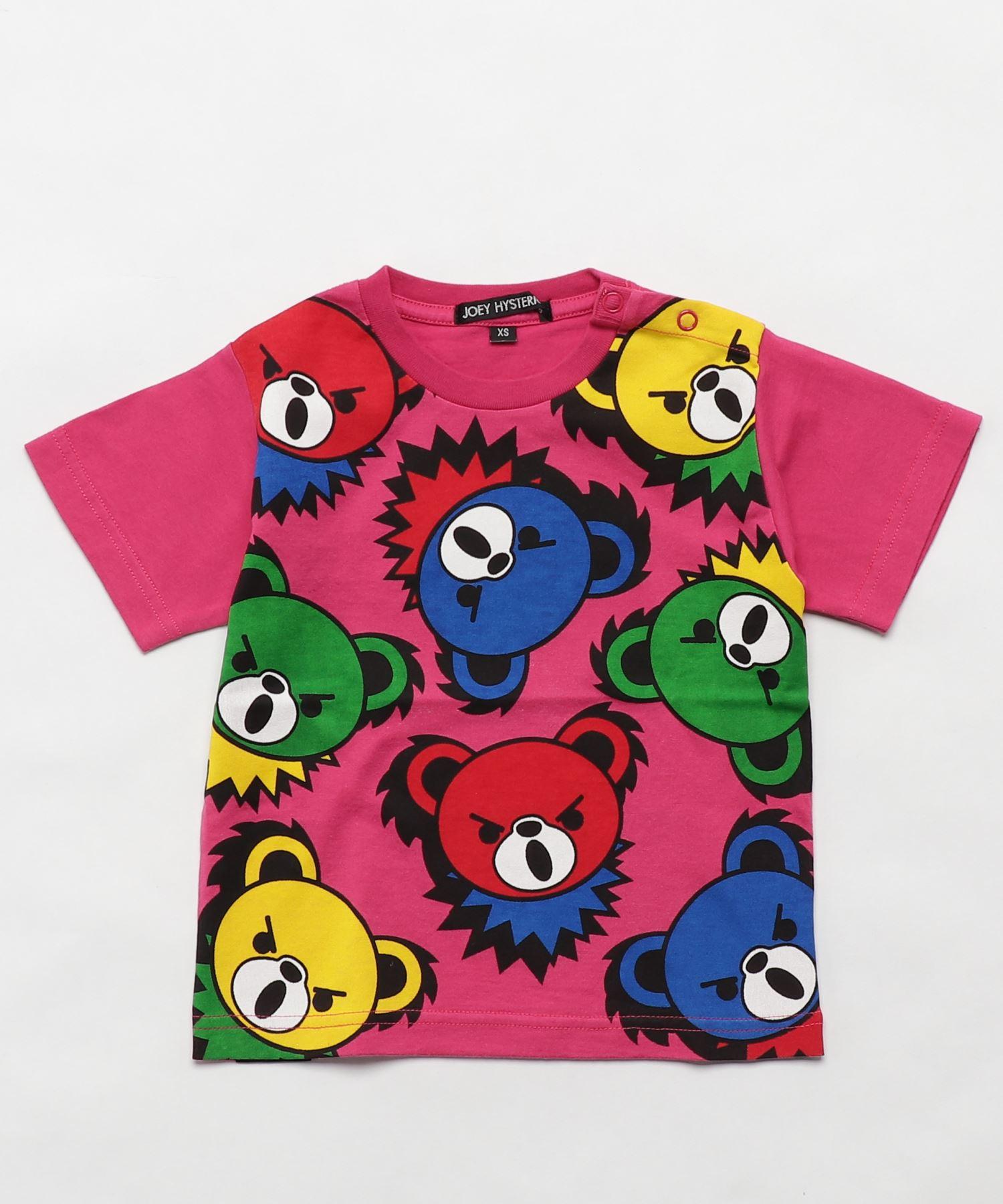 HYS BEAR PANEL pt Tシャツ【XS/S/M】