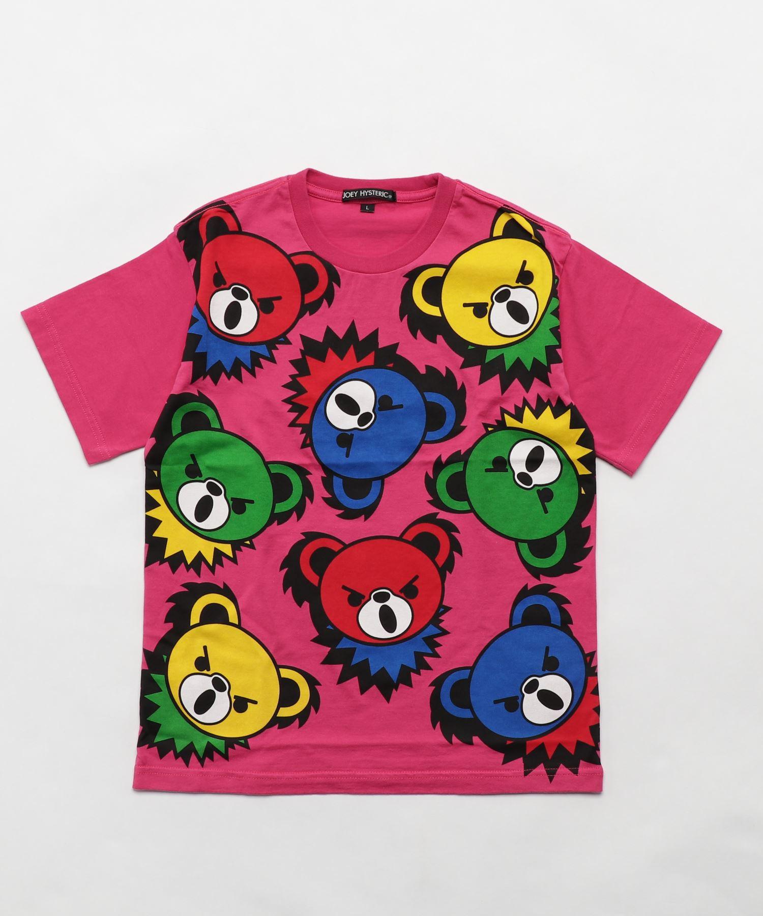 HYS BEAR PANEL pt Tシャツ【L】
