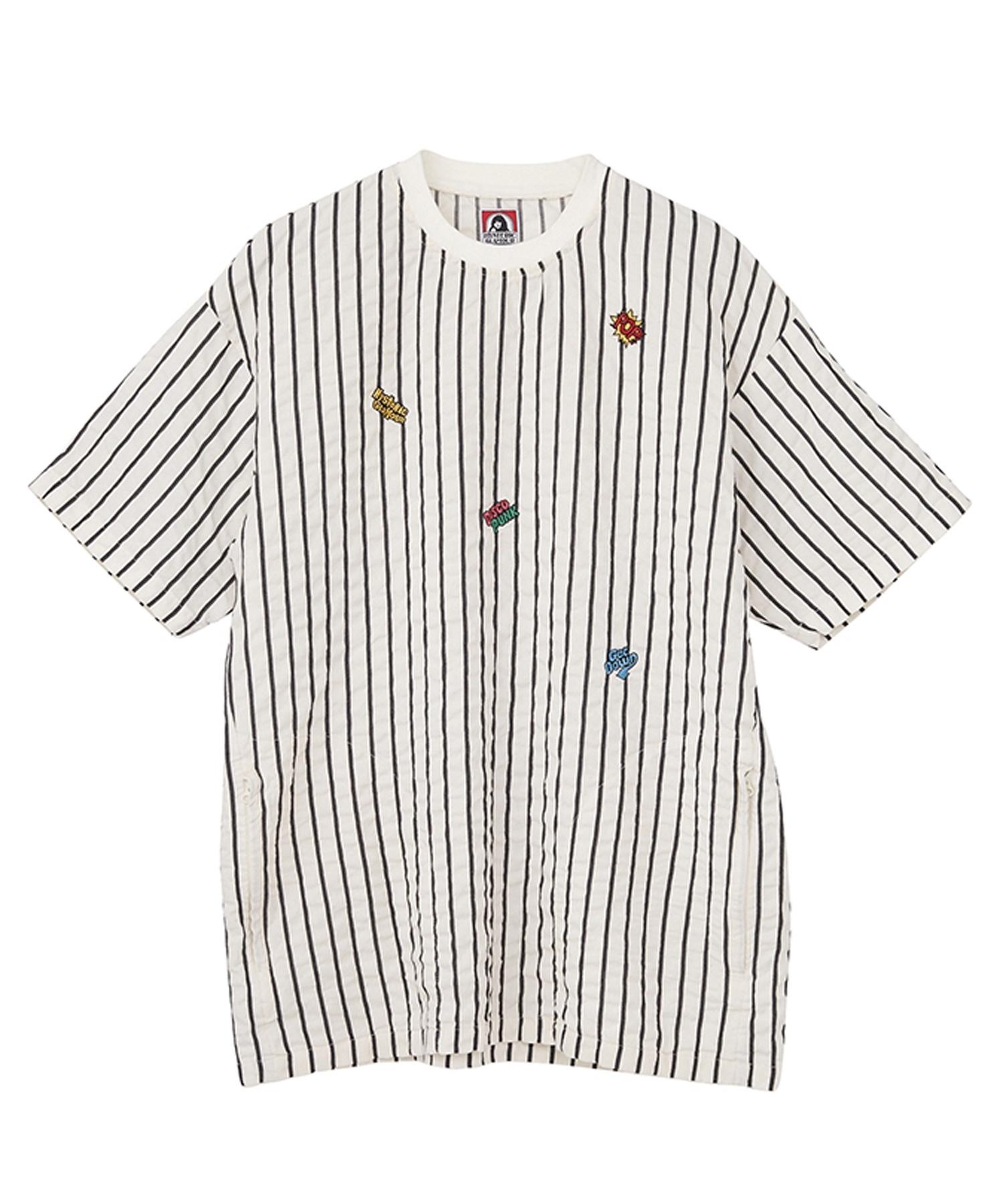 LOGO SCRATCH刺繍 半袖プルオーバー