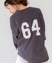 【WEB限定カラー】USAコットンナンバーTシャツ(プリントTシャツ/バックデザイントップス/フットボールTシャツ)#
