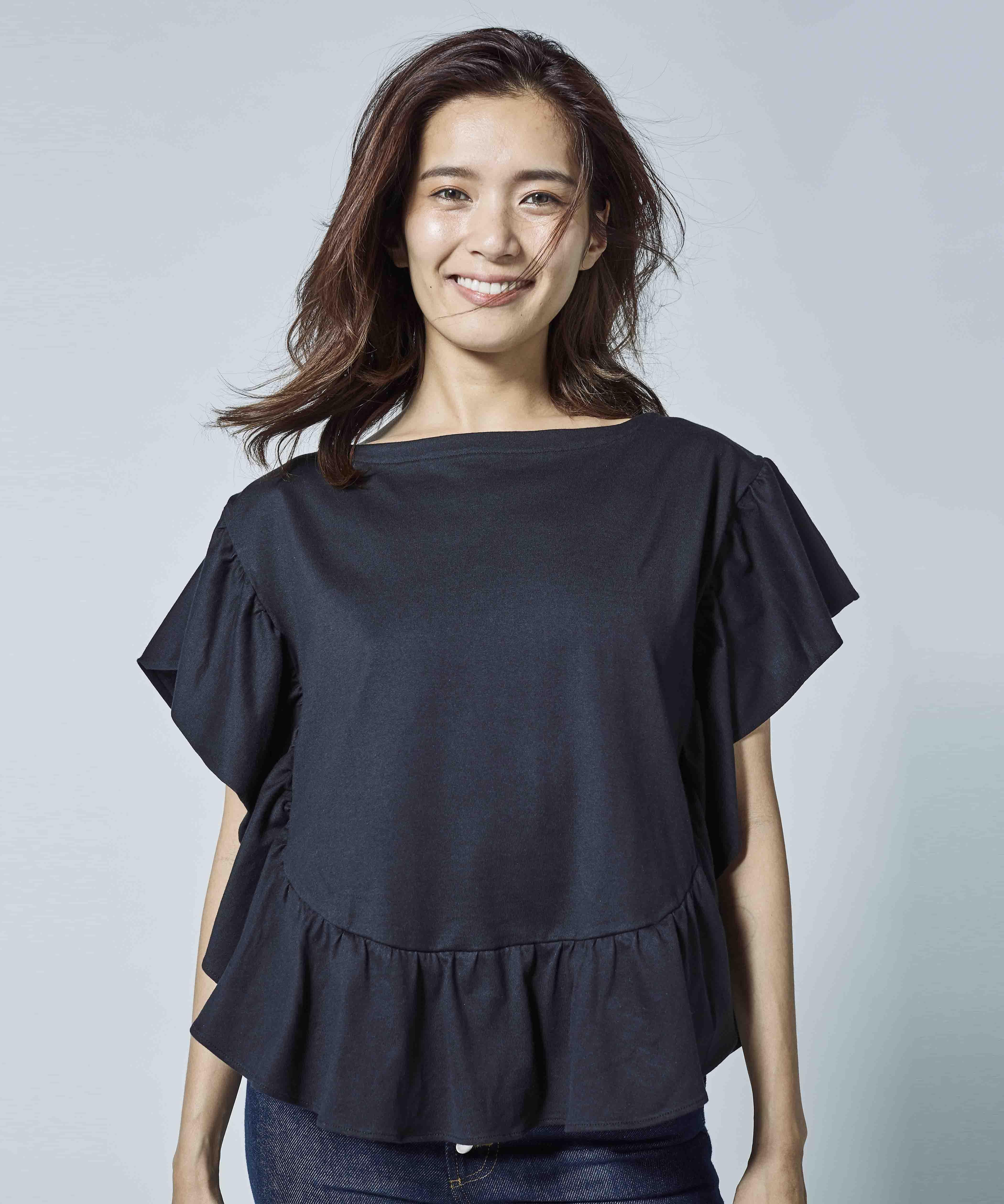 【別注】mikomori ミコモリ / フリルTシャツ