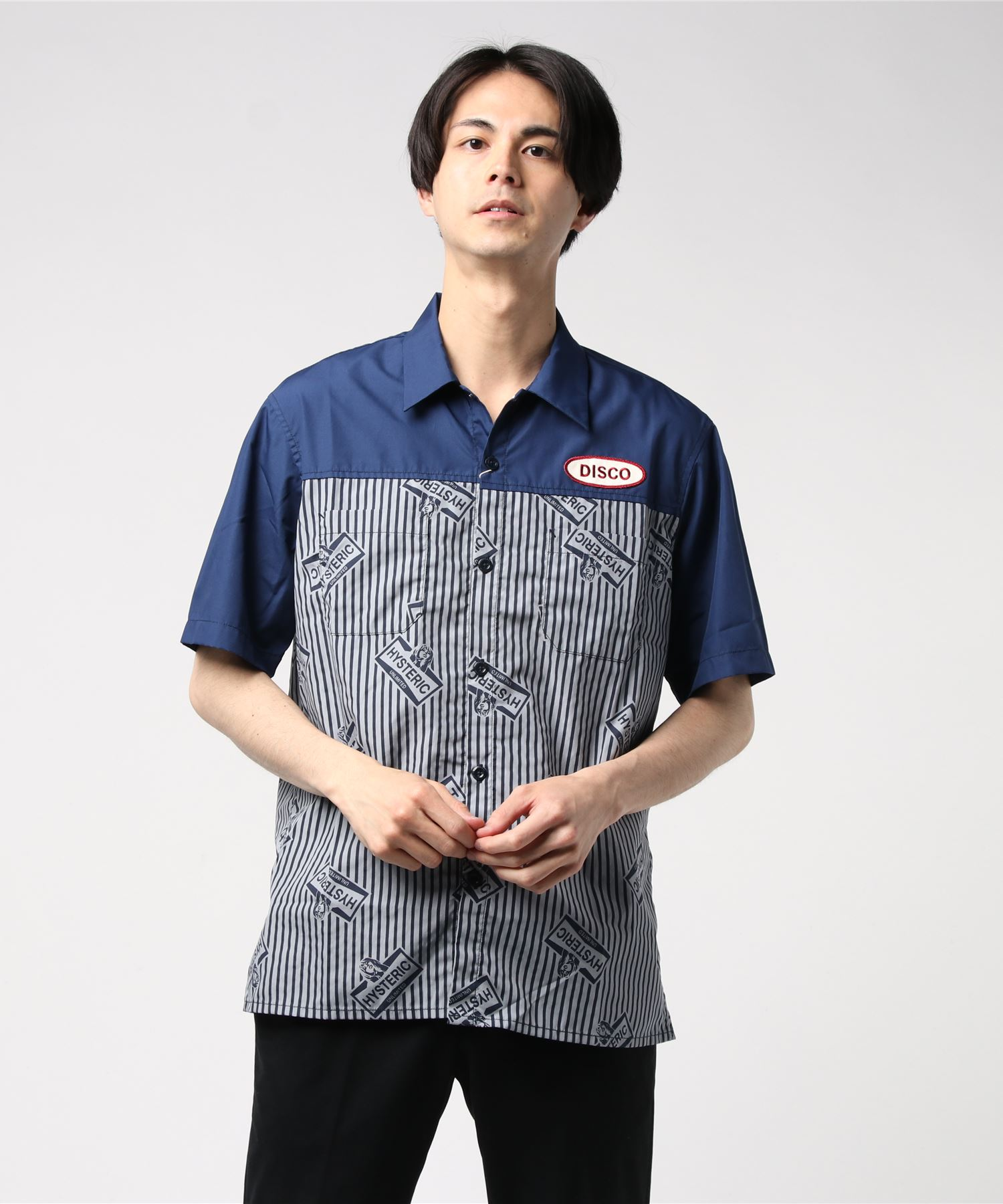 DISCOワッペン 半袖エンジニアシャツ