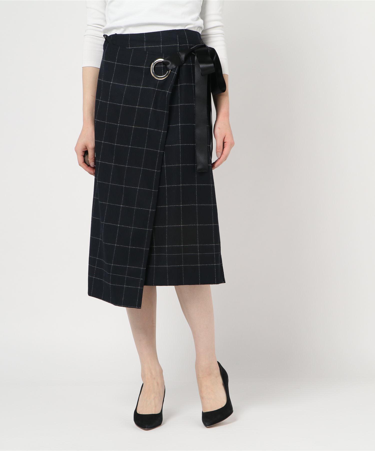ELIZABETH AND JAMES エリザベスアンドジェームス / チェック 巻きスカート
