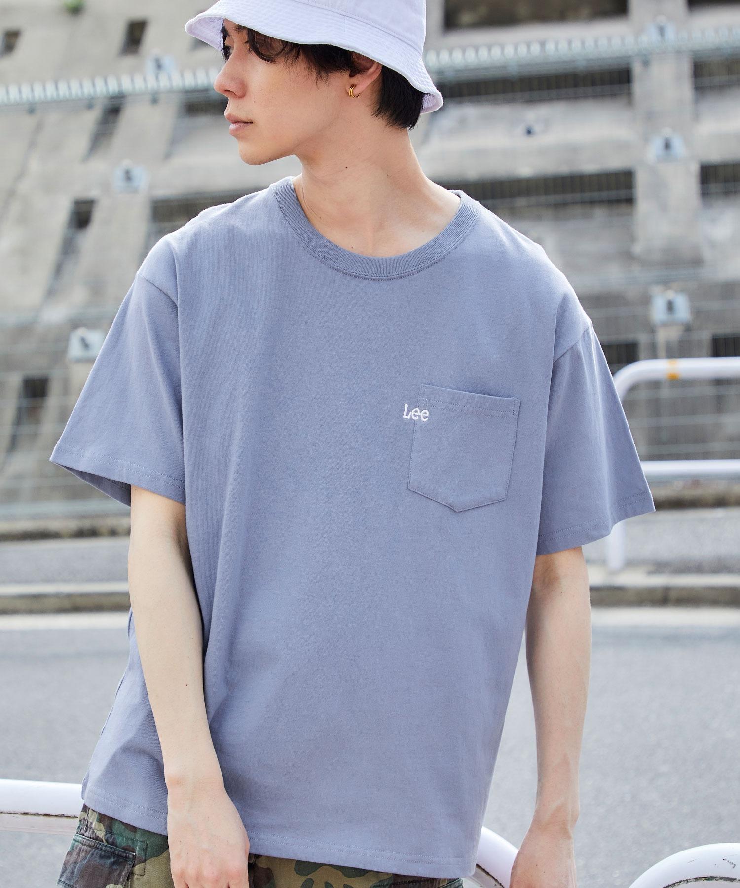 Lee/リー LOGO POCKET S/S TEE ロゴ刺繍ポケット半袖Tシャツ