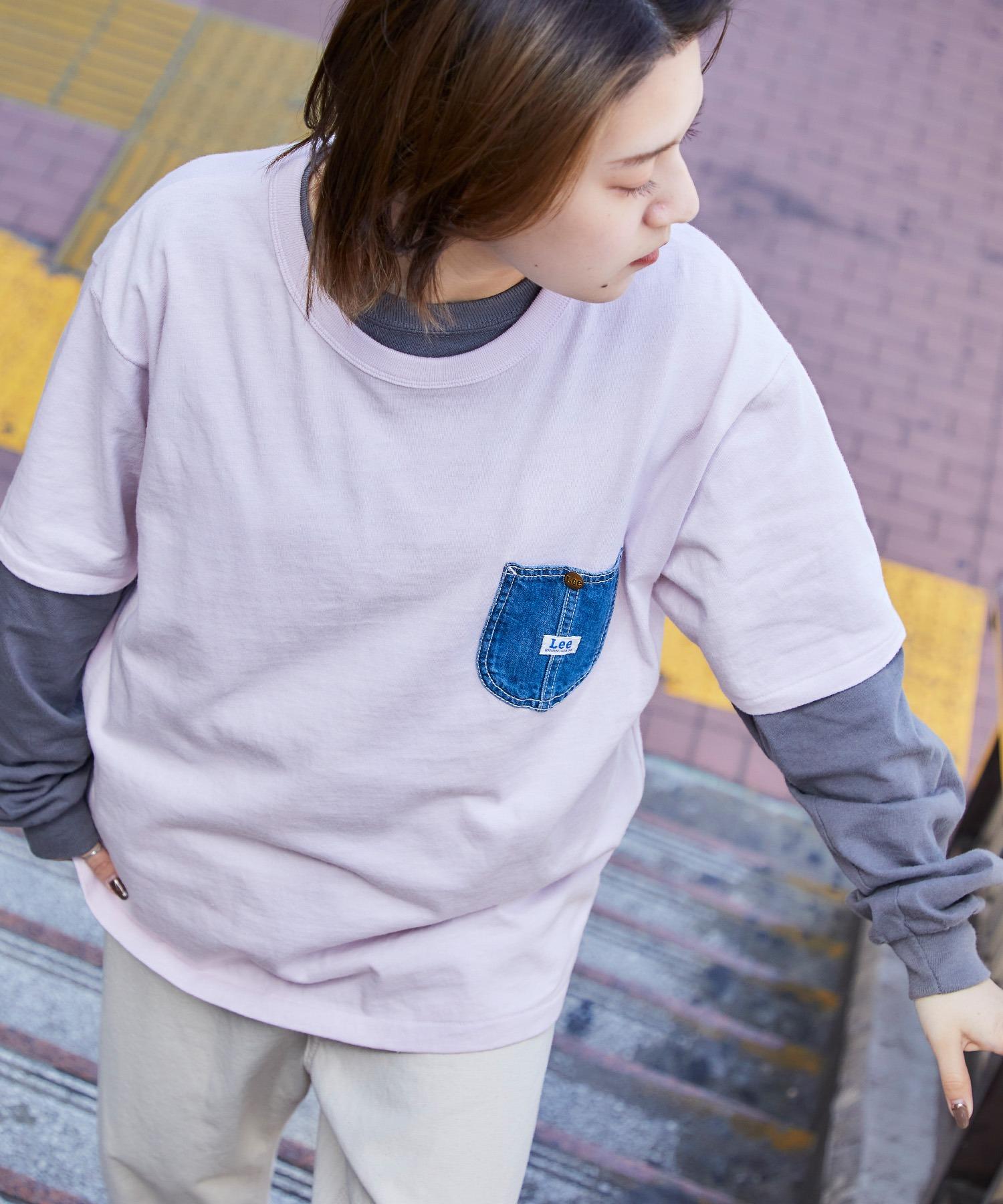 Lee/リー DENIM POCKET S/S TEE ロゴピスネーム デニムポケット半袖Tシャツ