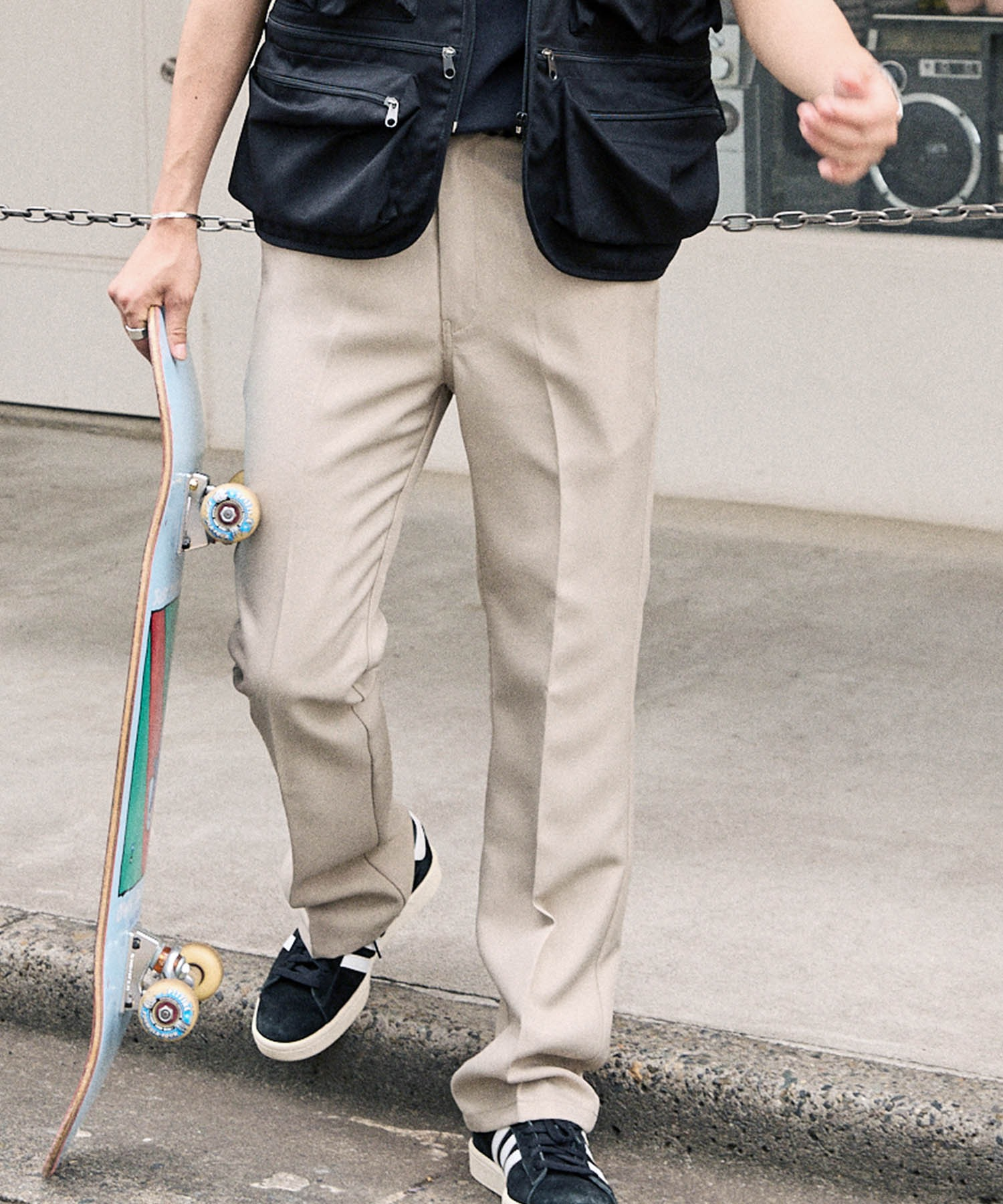 Dickies/ディッキーズ別注 スタプレセンタープレスセミフレアパンツ