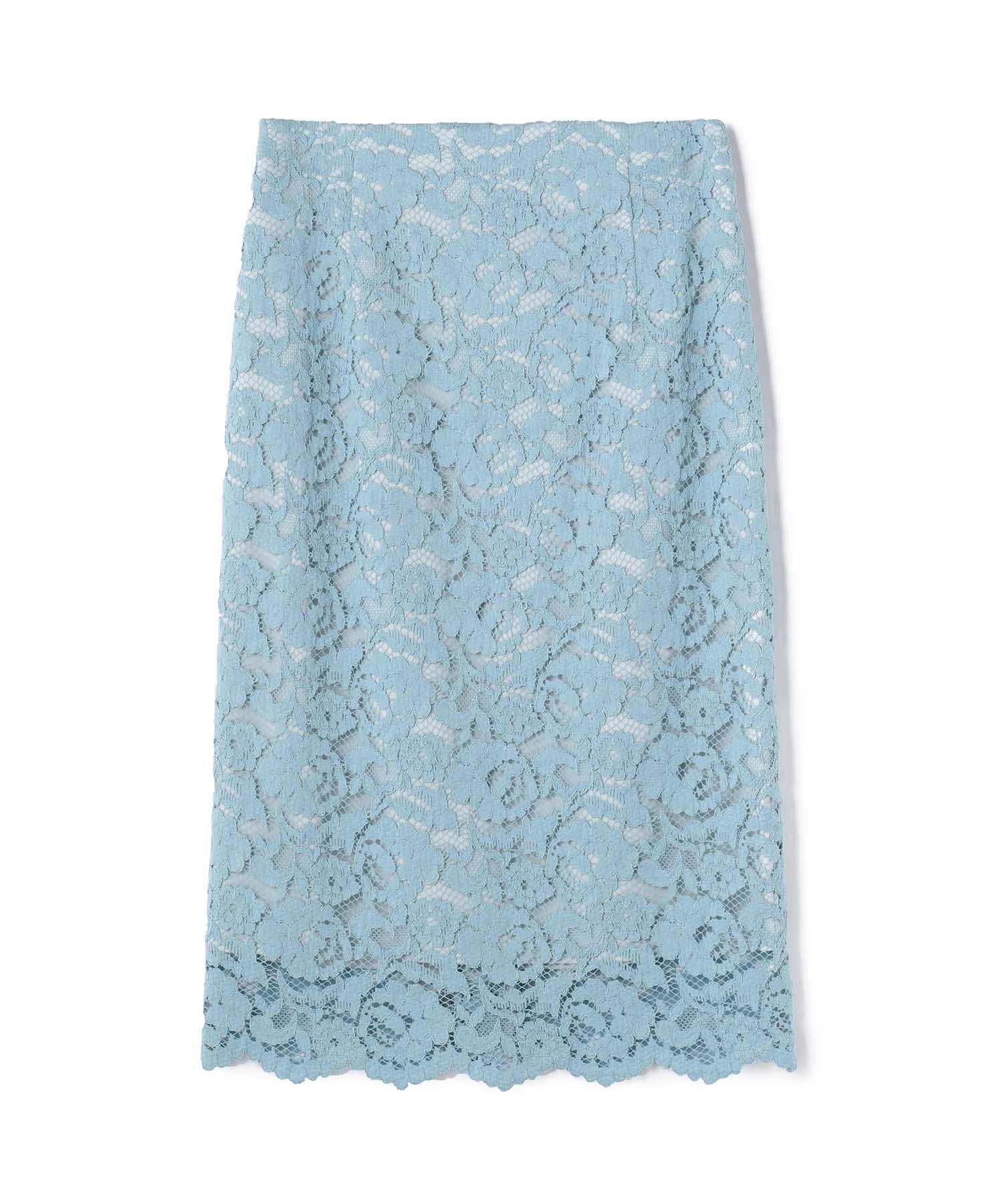 ESTNATION フラワーレースタイトスカート