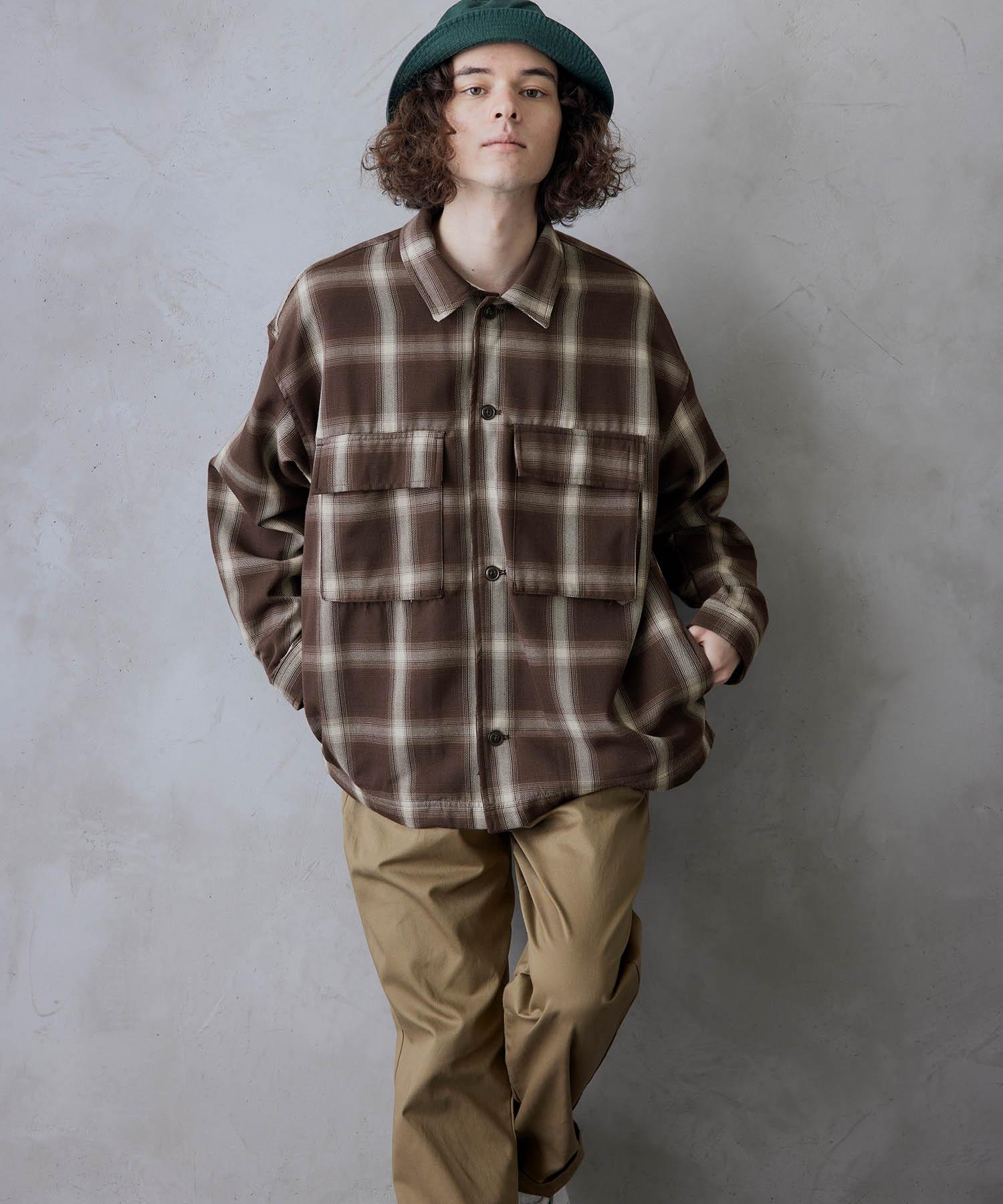 ビッグシルエット シェフCPOシャツジャケット