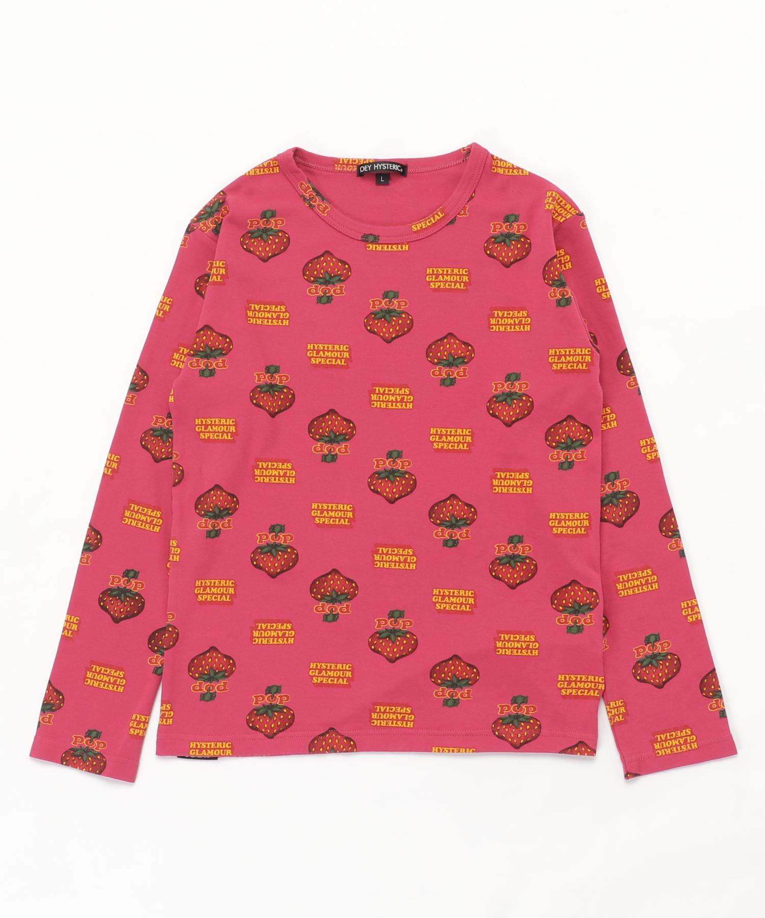 POP BERRY柄 Tシャツ【L】