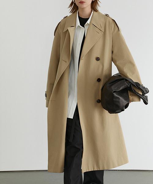 【Fano Studios】【2021SS】 Classic lapel wide trench coat cb-3 FD20W229