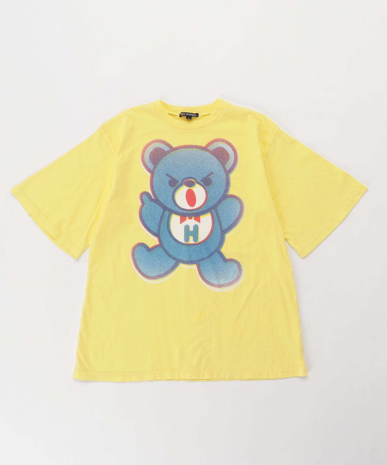 BEAR PRIMARY COLOR オーバーサイズTシャツ【L】