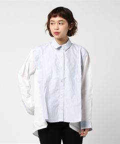 【Clu】STRIPE PANNELED SHIRT