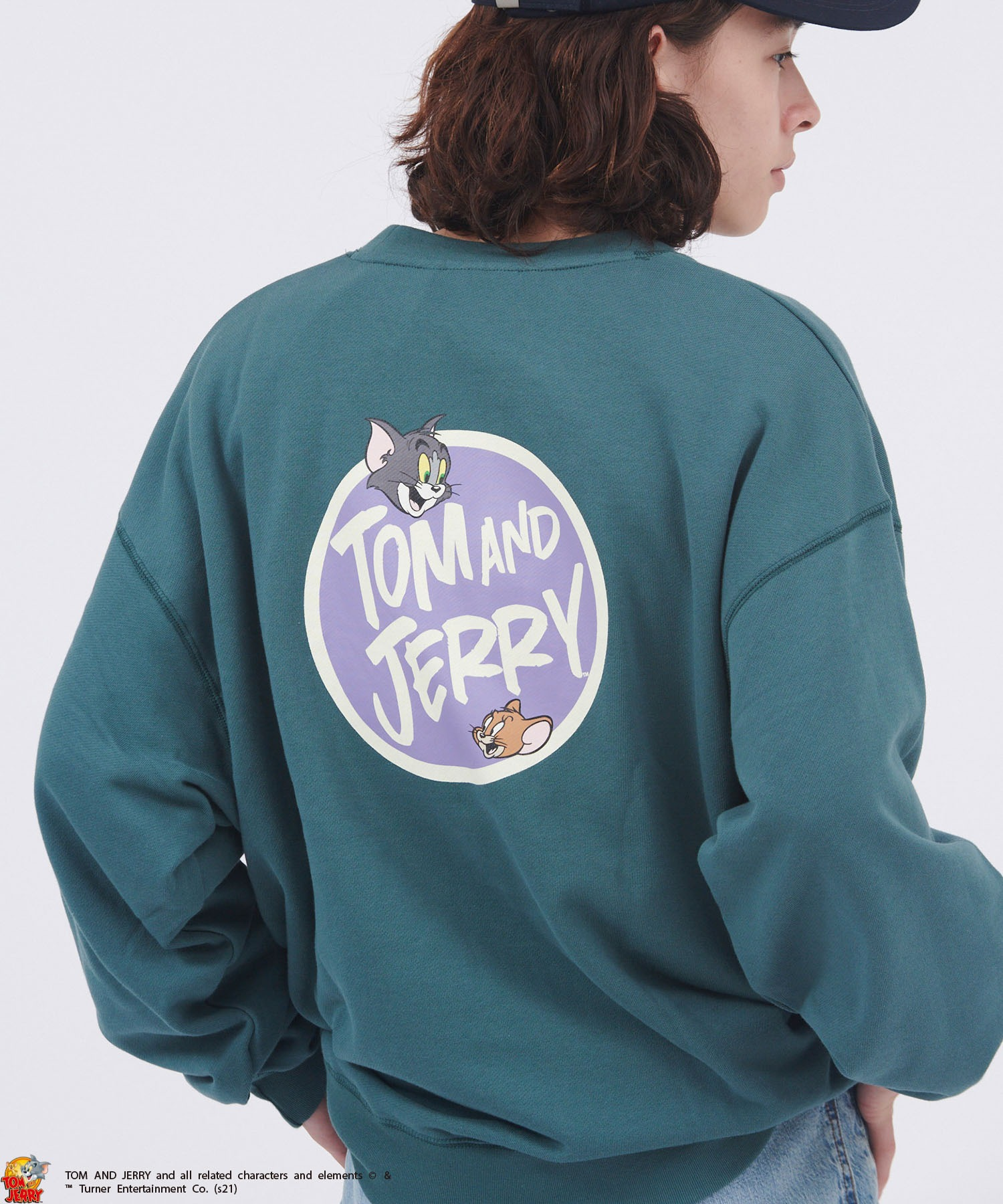 【DISCUS ATHLETIC×TOM AND JERRY/LOONEY TUNES】ディスカスアスレチック×トムとジェリー/ルーニー・テューンズ ビッグシルエットレトロデザイン裏毛スウェット