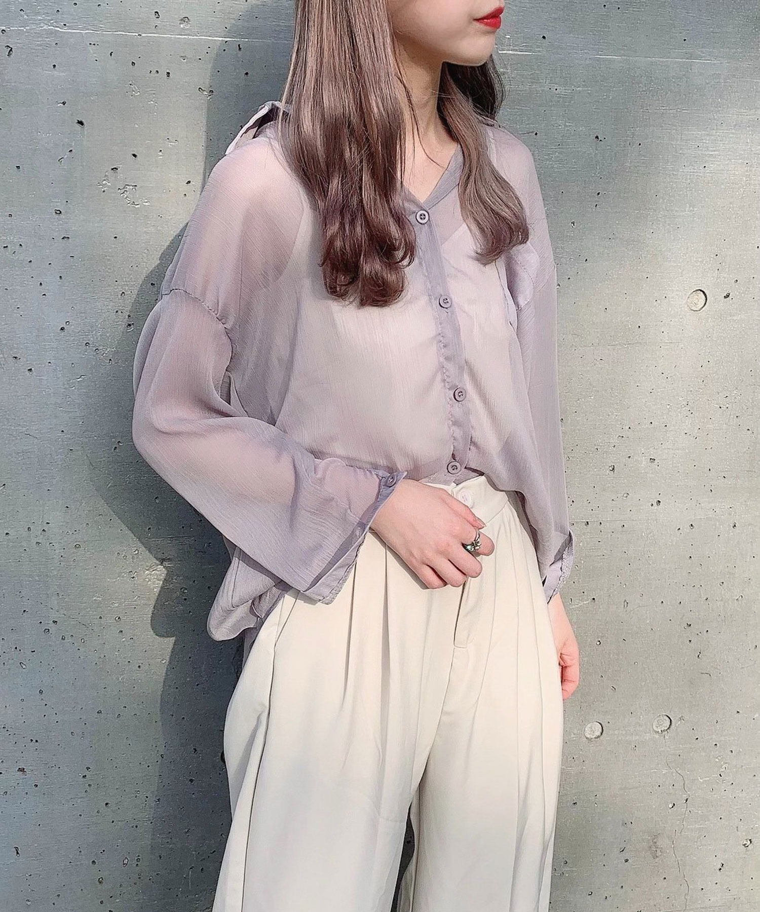【Voyage titty&Co.】カラースルーシャツ