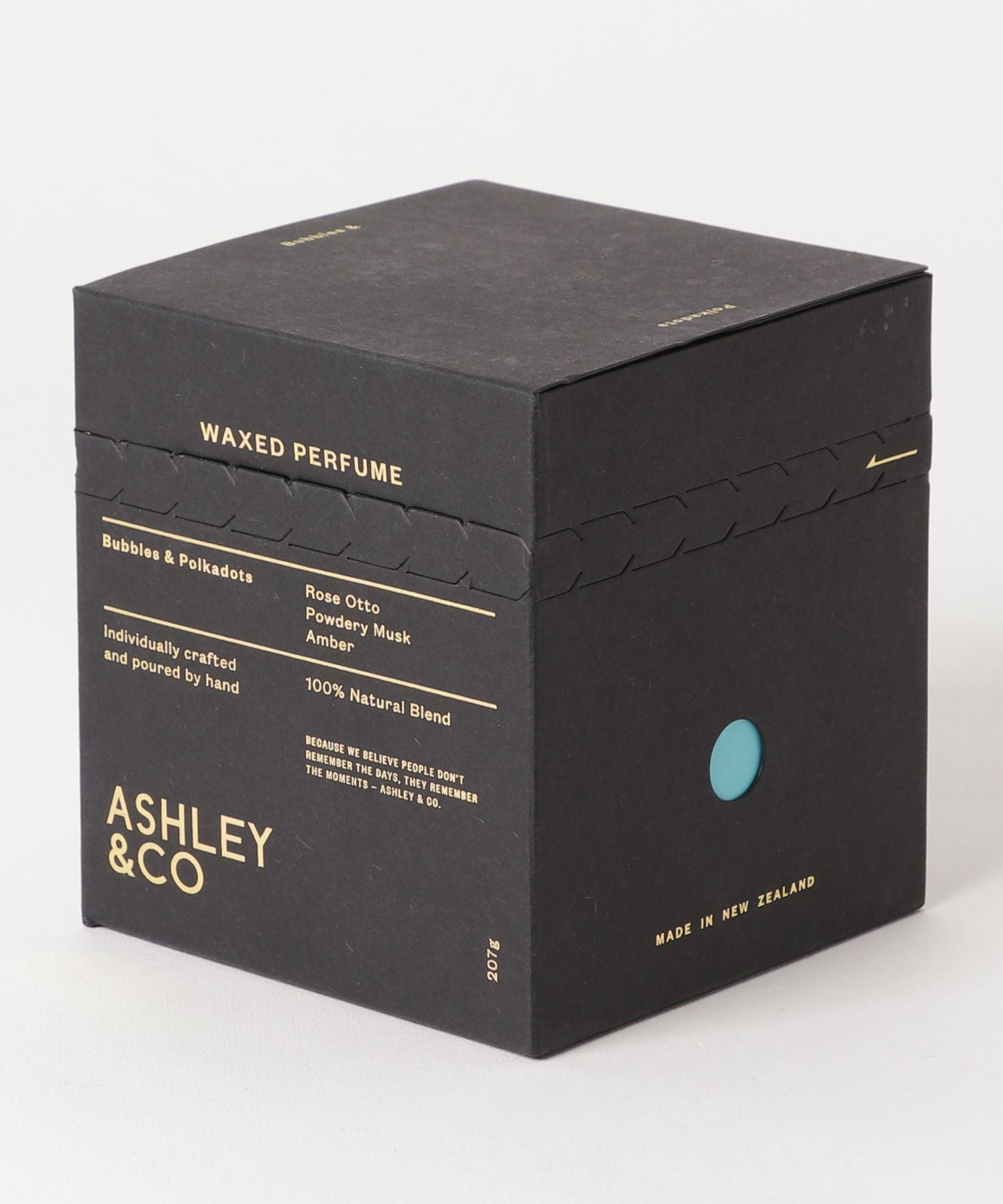 ASHLEY & CO アロマキャンドル Bubbles & Polkadots 207g
