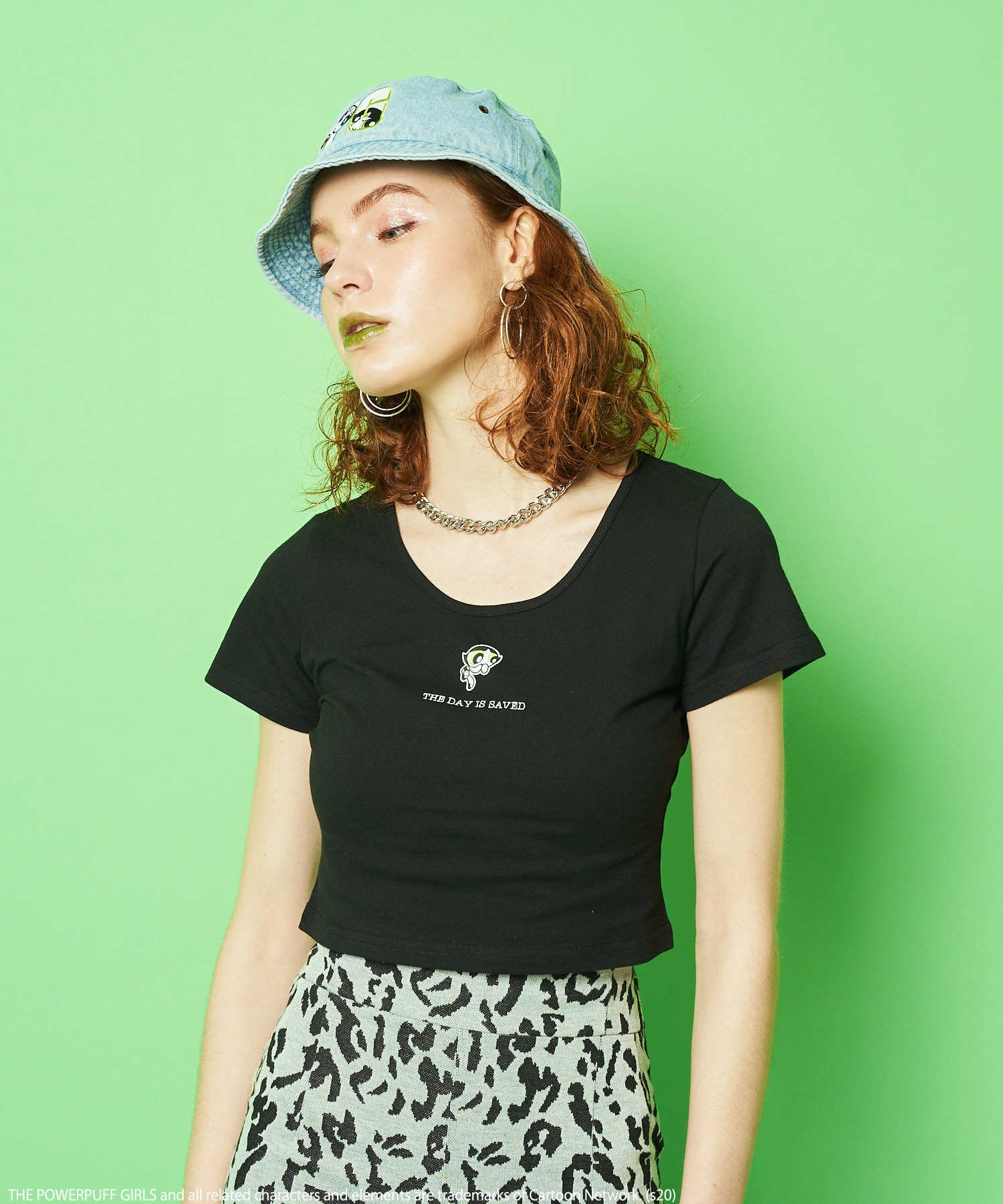 【THE POWERPUFF GIRLS/パワーパフ ガールズ】ショート丈Tシャツ