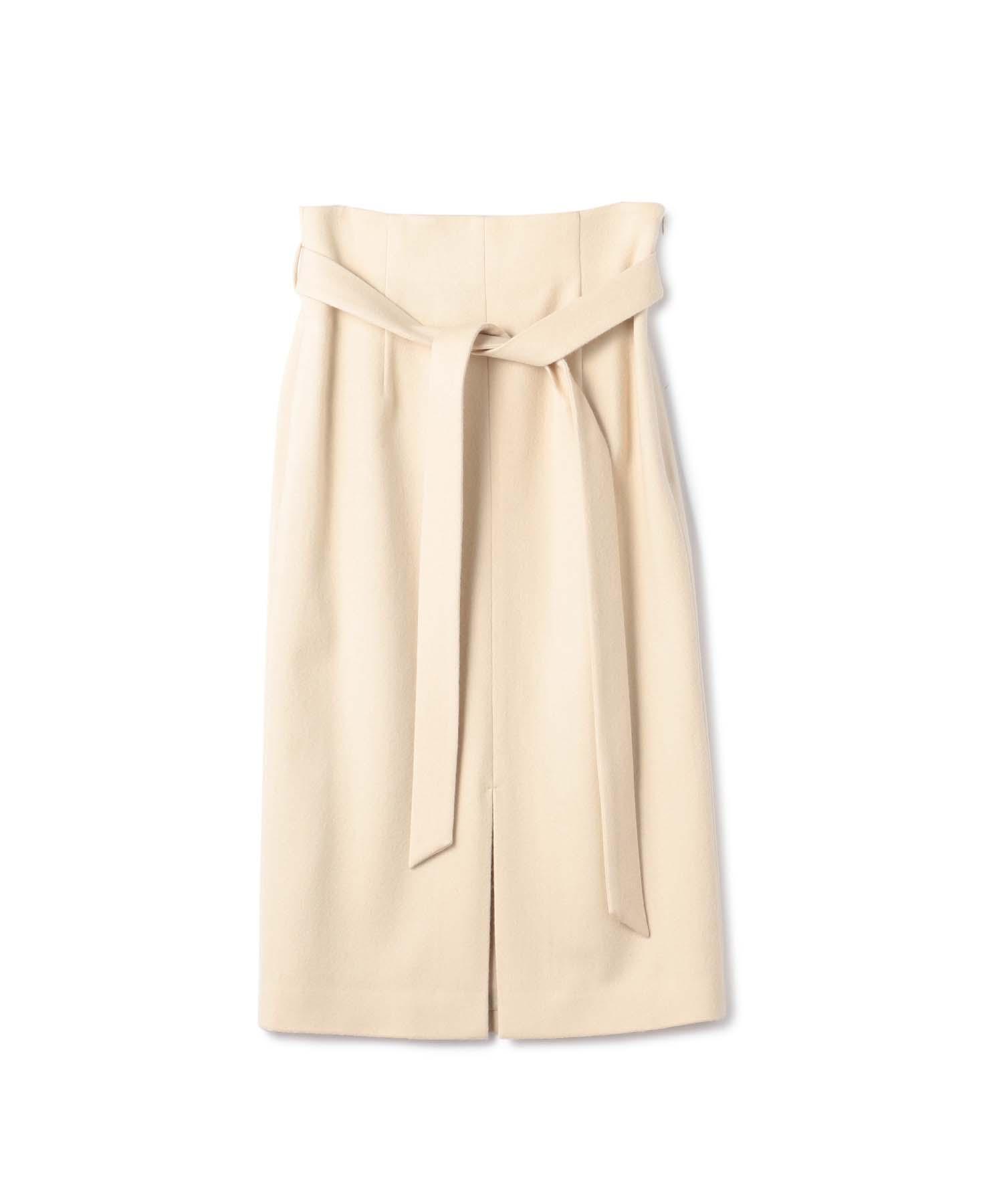 ESTNATION ウエストリボンスリットタイトスカート