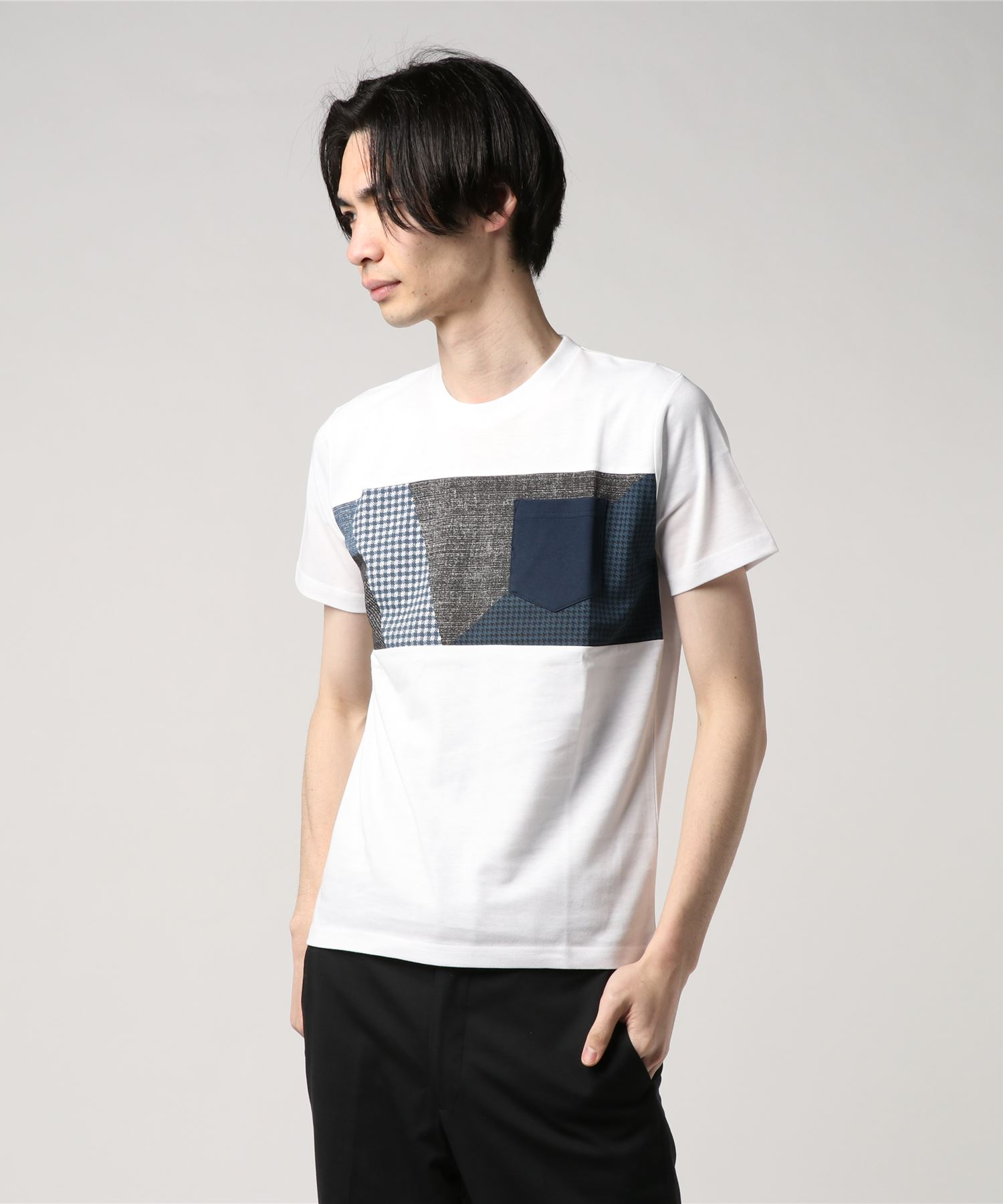 ZERO STAIN プリント切替Tシャツ 汗ジミが目立たない機能 ユニセックス