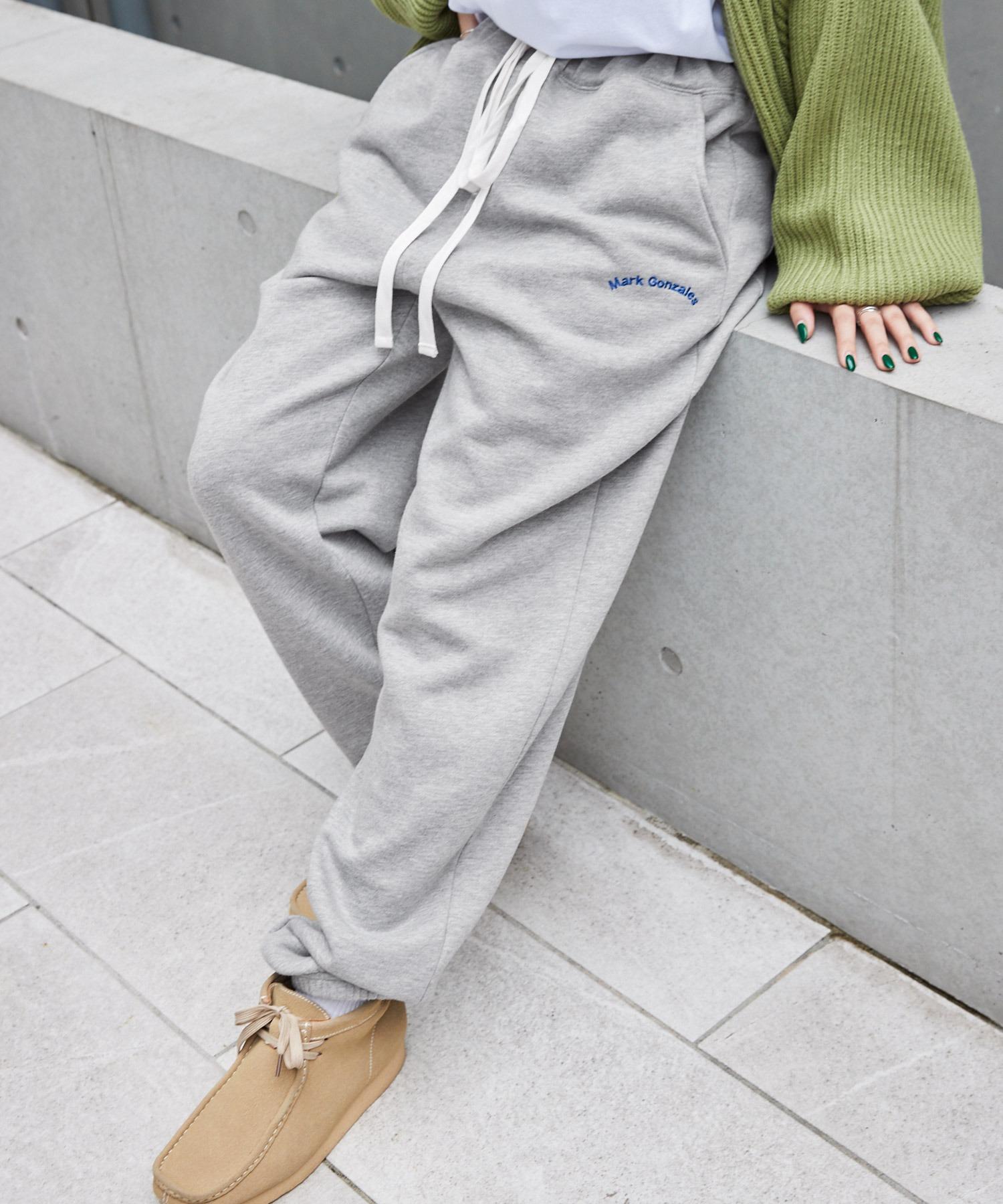 Mark Gonzales/マークゴンザレス MONO-MART別注 アーチロゴ刺繍 裏起毛 バルーンスウェットパンツ