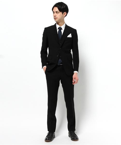 フォーマル ブラック 3ピーススーツ