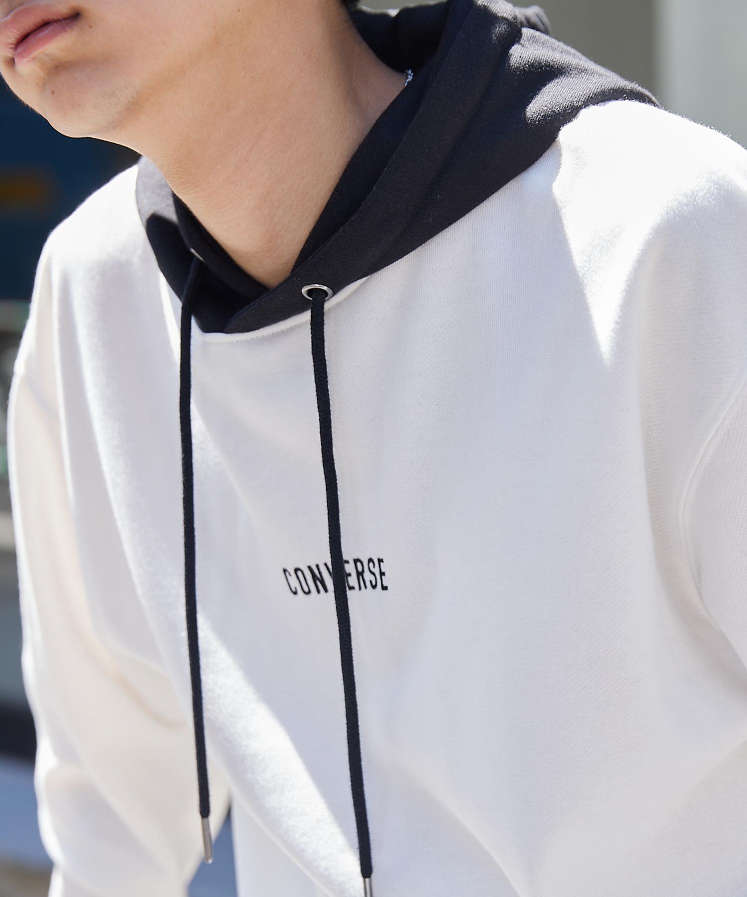 CONVERSE/コンバース 別注 フロント/袖刺繍 オーバーサイズプルオーバーパーカー