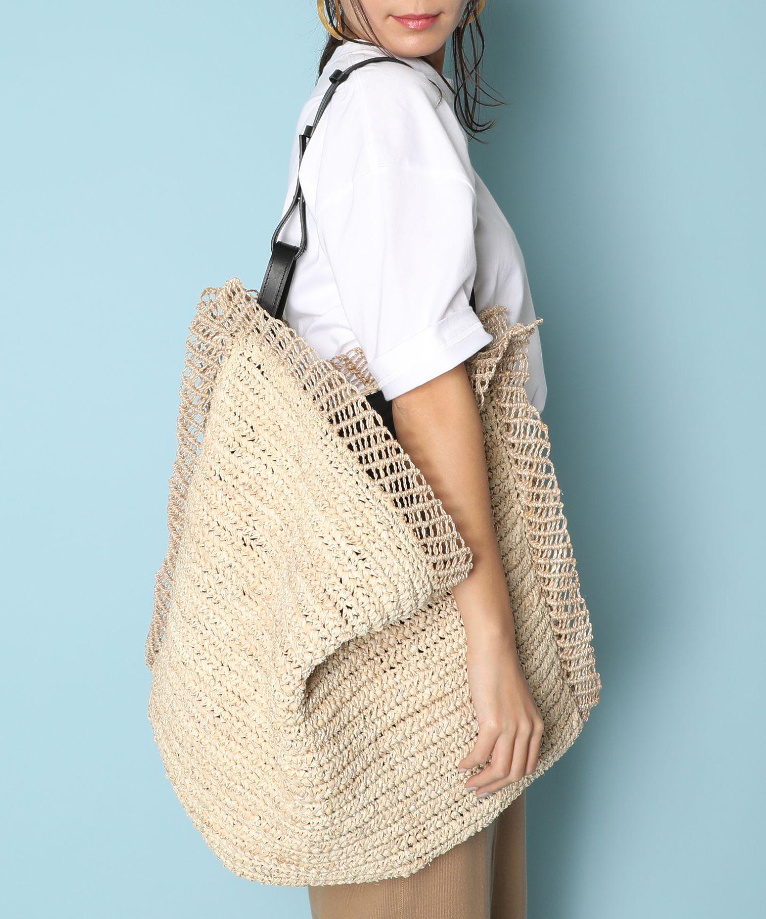 JAMIRAY ジャミレイ / ビッグラフィアトートバッグ Big Raffia Wear Bag