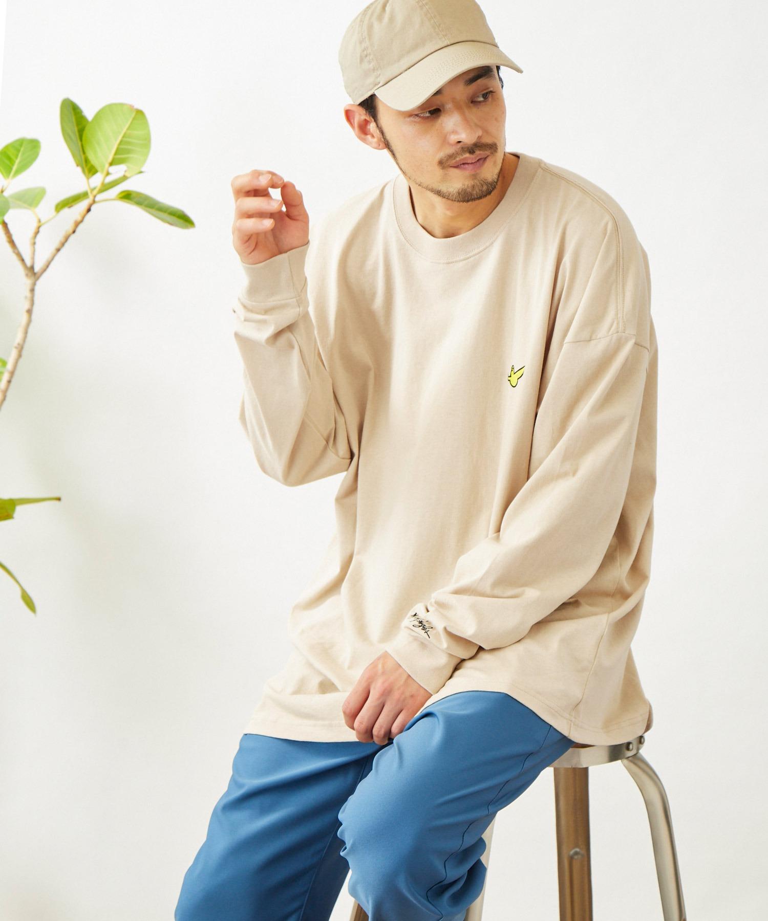Mark Gonzales/マークゴンザレス MONO-MART別注 ビッグシルエット胸刺繍 長袖Tee