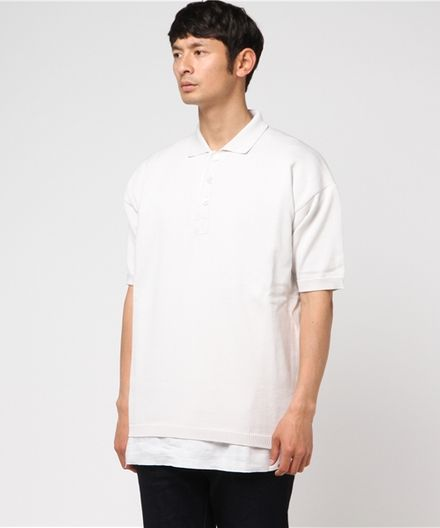 RAF SIMONS ラフ シモンズ LARGE POLO ニットポロシャツ 171-833-50001