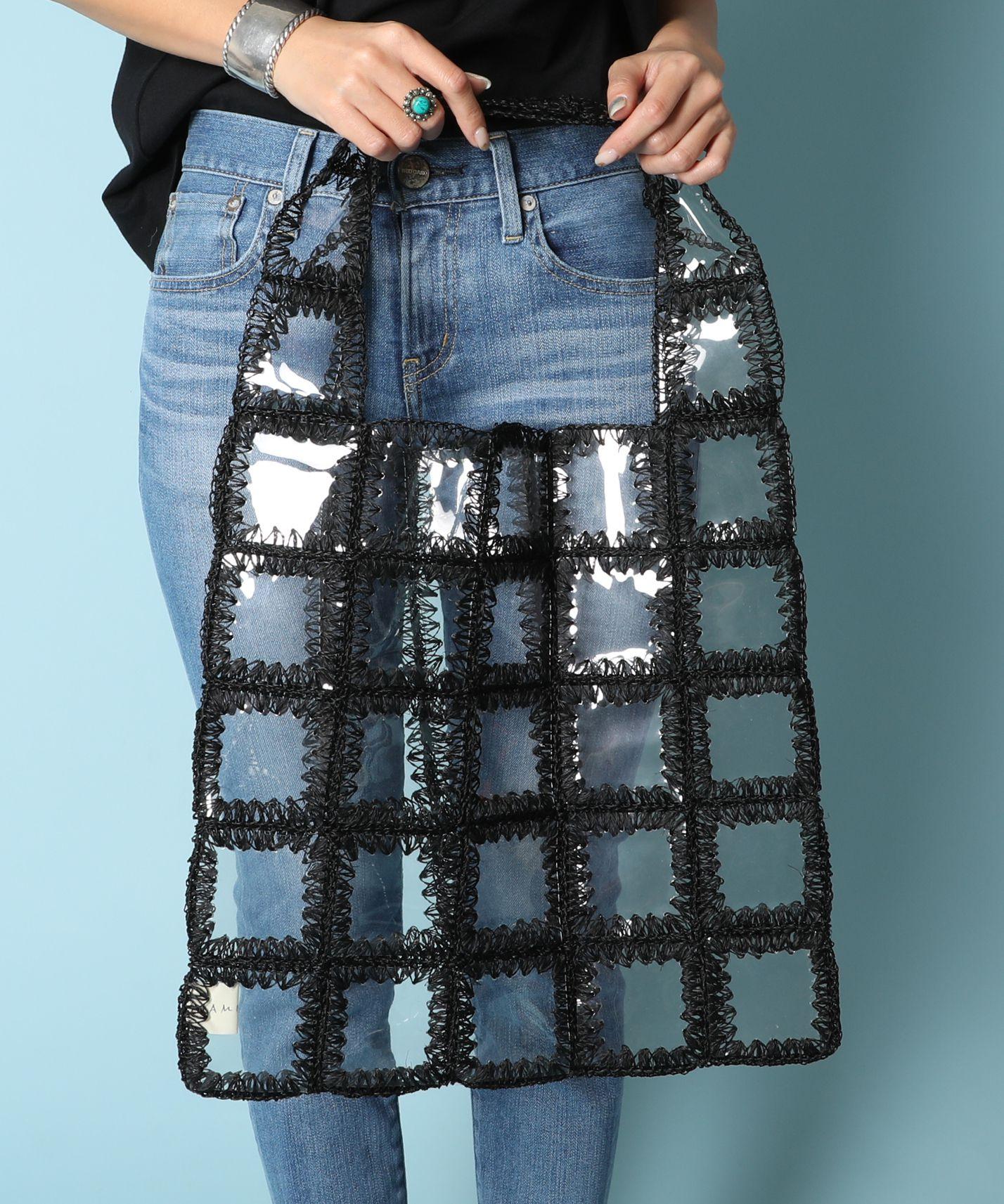 JAMIRAY ジャミレイ / PVCクリアトートバッグ Clear Patch Shopper