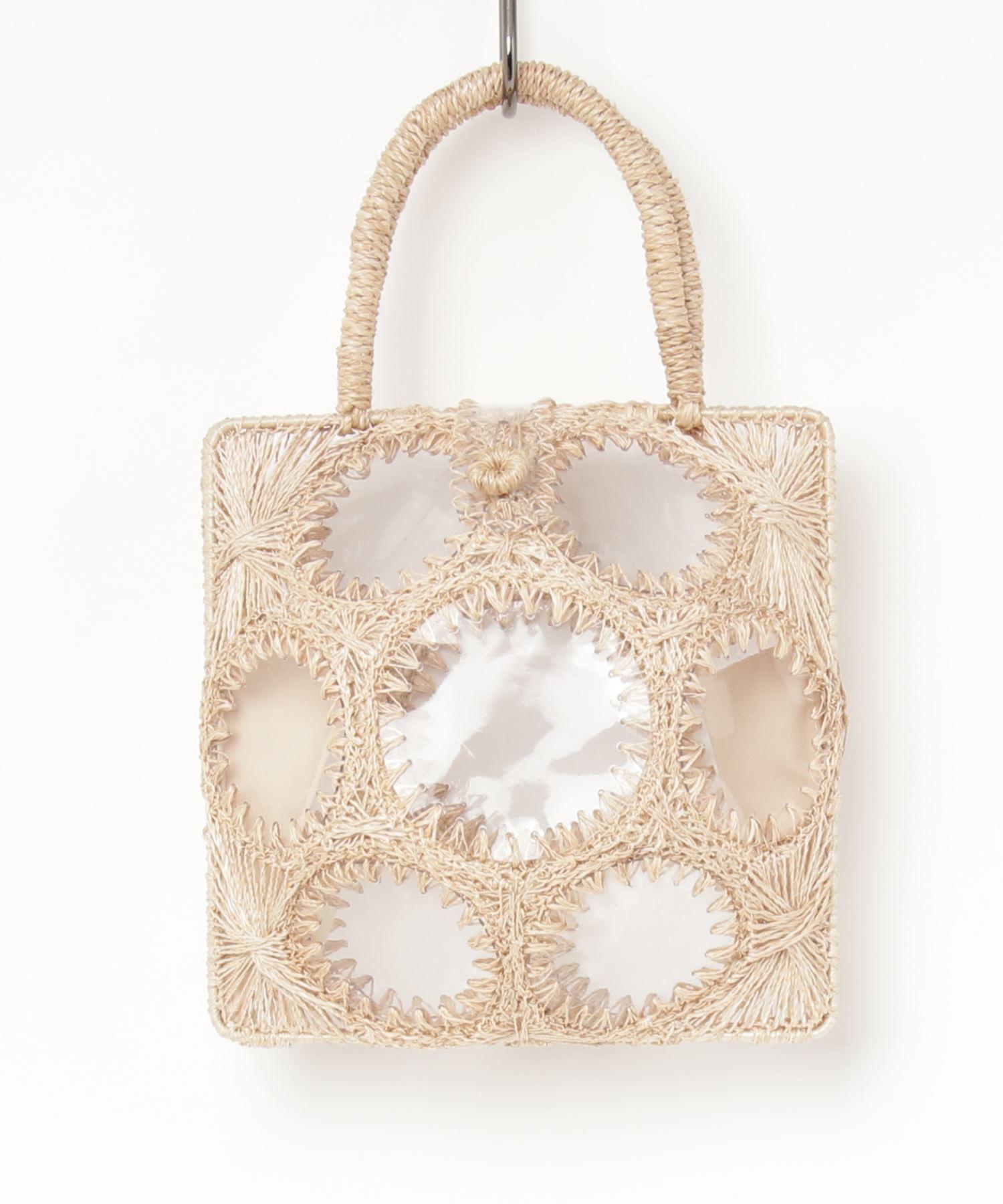 JAMIRAY ジャミレイ / PVCスモールトートバッグ Abaca Clear Basket