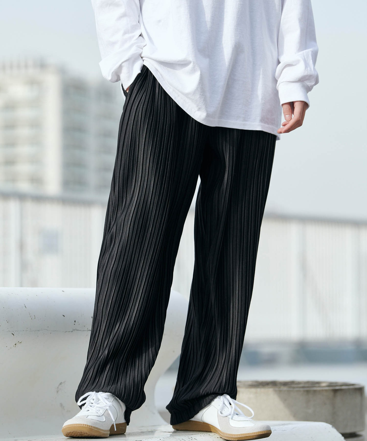 バルーンビッグシルエット シェフパンツ/スケーターパンツ ワイドデニムパンツ アソートfabric/ Chef's Pants -2021AW-