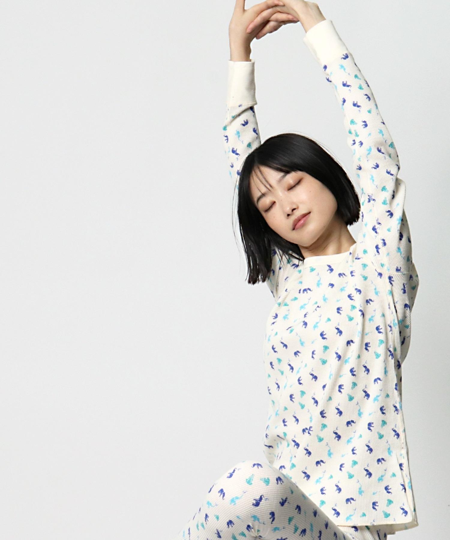 【 FRUIT OF THE LOOM / フルーツオブザルーム 】ワッフルロングTシャツ
