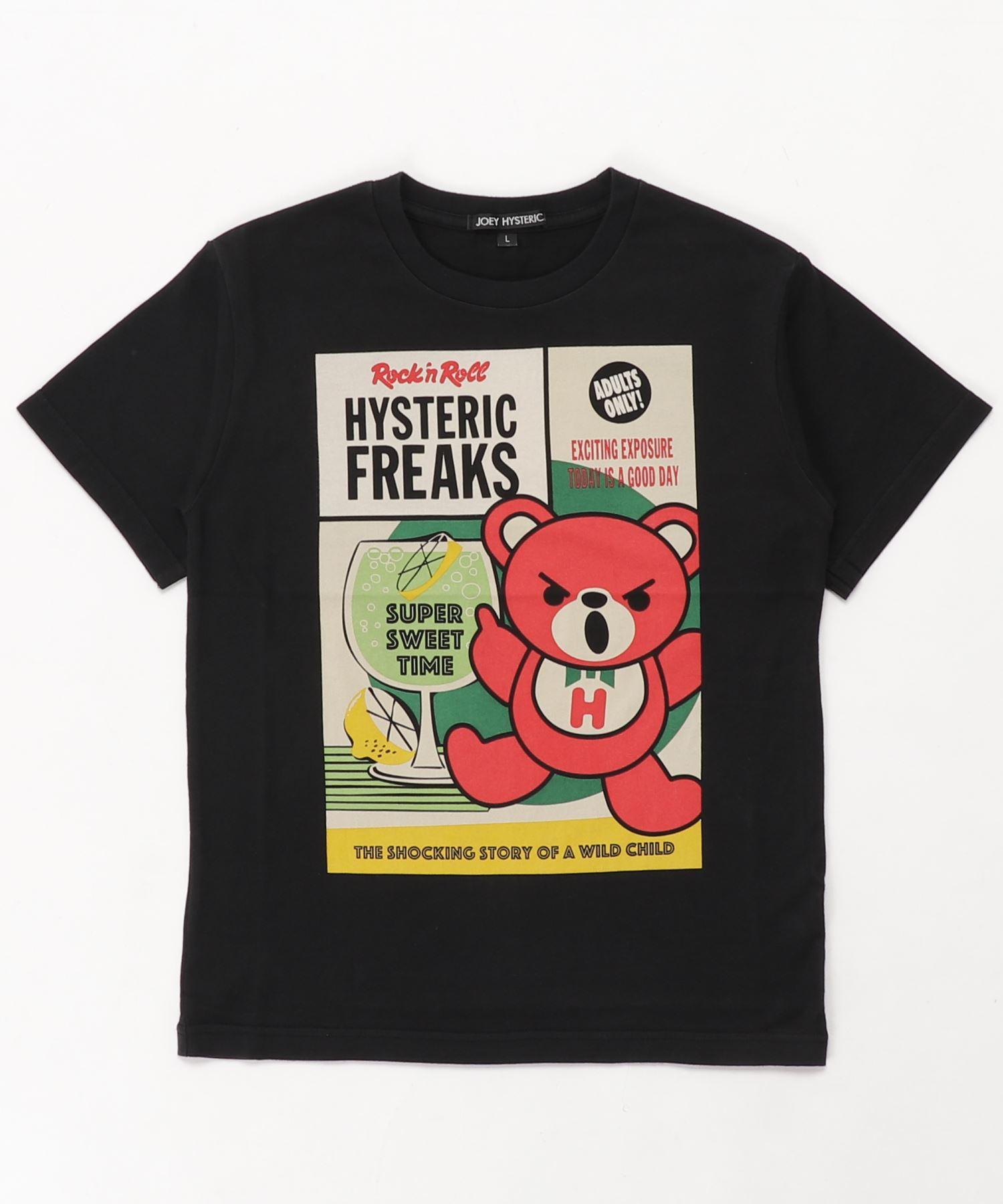 HYSTERIC FREAKS pt Tシャツ【L】