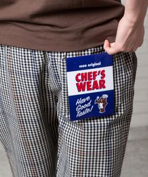 """【女性にもオススメ】シェフパンツ""""CHEF PANTS""""(一部WEB限定カラー)(イージーパンツ/バルーンパンツ/チェック/ストライプ)#"""