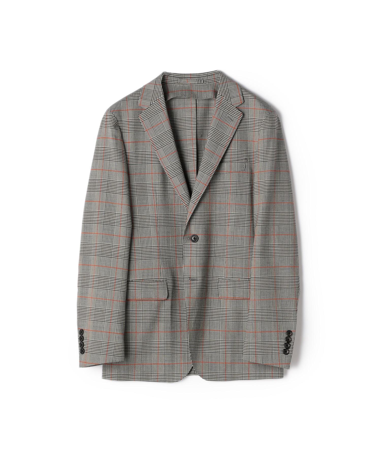 ESTNATION / グレンチェック柄ストレッチウールジャケット